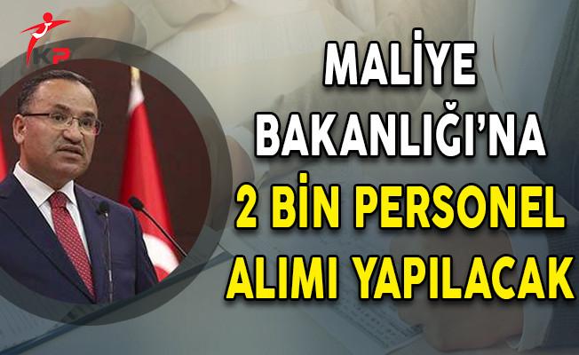 Hükümet Sözcüsü Bozdağ: Maliye Bakanlığı'na 2 Bin Personel Alımı Yapılacak