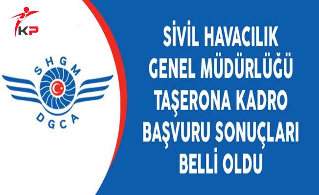 Sivil Havacılık Genel Müdürlüğü Taşerona Kadro Başvuru Sonuçları Belli Oldu