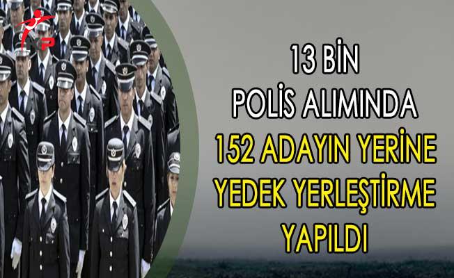21. Dönem POMEM 13 Bin Polis Alımında 152 Adayın Yerine Yedek Yerleştirme Yapıldı