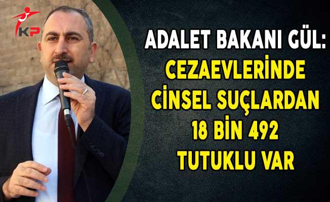 Adalet Bakanı Gül: Cezaevlerinde Cinsel suçlardan 18 Bin 492 Tutuklu Var