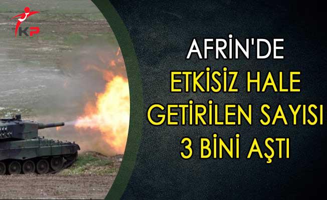 Afrin'de Etkisiz hale Getirilen Sayısı 3 Bini Aştı
