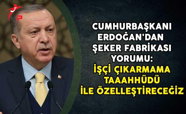 Cumhurbaşkanı Erdoğan'dan Şeker Fabrikası Yorumu: İşçi Çıkarmama Taahhüdü İle Özelleştireceğiz