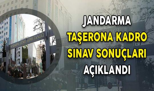 Jandarma Genel Komutanlığı Taşerona Kadro Sınav Sonuçları Açıklandı