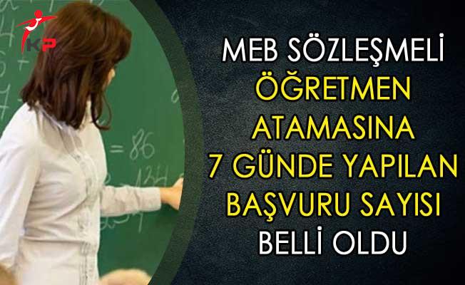 MEB Sözleşmeli Öğretmen Atamasına 7 Günde Yapılan Başvuru Sayısı Belli Oldu
