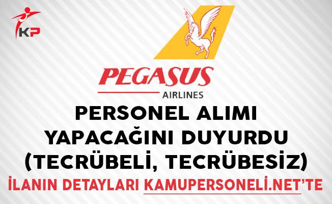Pegasus Hava Yolları Personel Alımı Yapacağını Duyurdu (Tecrübeli, Tecrübesiz)