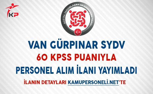 Van Gürpınar SYDV 60 KPSS Puanıyla Personel Alımı Yapıyor