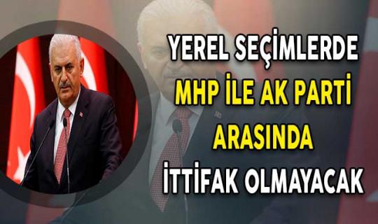 Yerel Seçimlerde MHP İle AK Parti Arasında İttifak Olmayacak