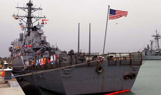 ABD Savaş Gemisi Suriye'ye Sularında! Rus Uçakları Havalandı