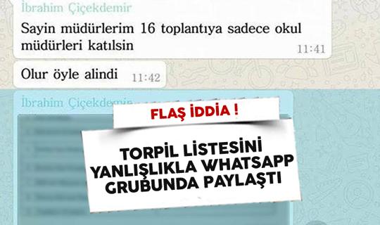 Flaş İddia! Torpil Listesini Yanlışlıkla Whatsapp Grubunda Paylaştı