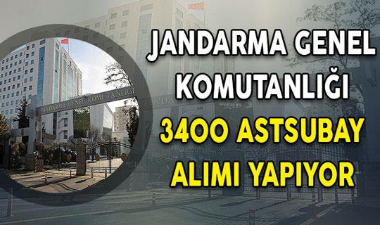 Jandarma Genel Komutanlığı 3400 Muvazzaf/Sözleşmeli Astsubay Alımı Yapıyor