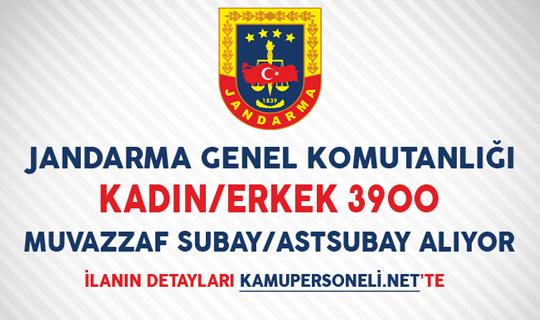 Jandarma Genel Komutanlığı 3900 Muvazzaf Subay/Astsubay Alımı Yapıyor