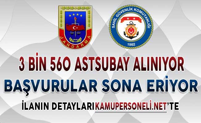 Jandarma ve Sahil Güvenlik 3 Bin 560 Astsubay Alımı Başvuruları Sona Eriyor