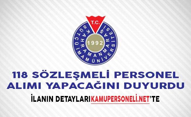 Kahramanmaraş Sütçü İmam Üniversitesi 118 Sözleşmeli Personel Alımı Yapacağını Duyurdu