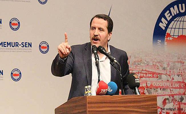 Memur Sen Başkanı Yalçın'dan Başbakan Yıldırım'a Sözleşmeli Personel Eleştirisi