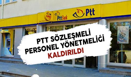 PTT İdari Hizmet Sözleşmeli Personel Yönetmeliği Yürürlükten Kaldırıldı