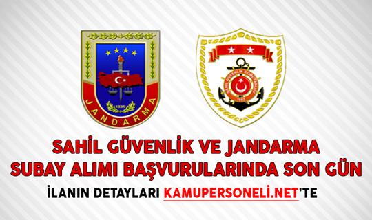 Sahil Güvenlik ve Jandarma Subay Alımı Başvurularında Son Gün!