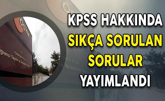 2018 KPSS Hakkında Sıkça Sorulan Sorular ÖSYM Tarafından Yayımlandı !