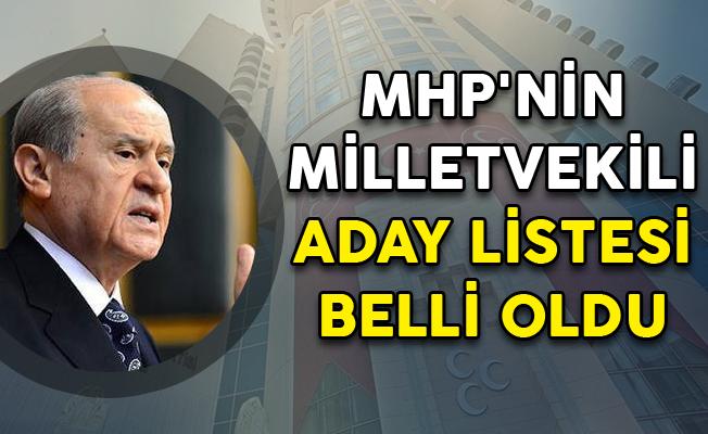 24 Haziran Seçimleri İçin MHP'nin Milletvekili Aday Listeleri Belli Oldu
