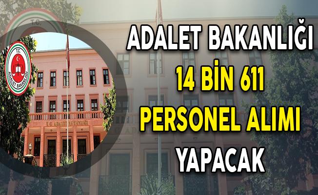 Adalet Bakanlığı 14 Bin 611 Kamu Personeli Alımı Yapacak