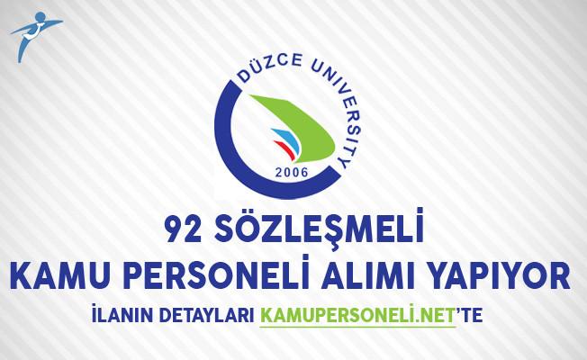 Düzce Üniversitesi 92 Sözleşmeli Kamu Personeli Alımı Yapıyor
