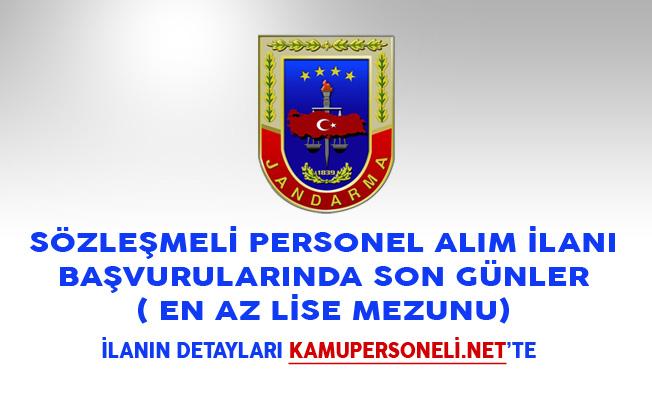 Jandarma Genel Komutanlığı Sözleşmeli Personel Alım İlanı Başvurularında Son Günler ( En Az Lise Mezunu)