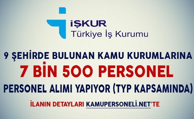 Kamu Kurumlarına TYP Kapsamında 7 Bin 500 Personel Alımı Yapılıyor