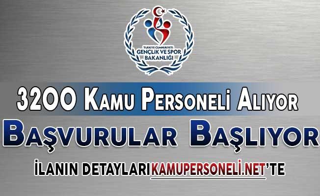 Spor Bakanlığı 3 Bin 200 Kamu Personeli Alımı Başvuruları Başlıyor ! KPSS En Az 50 Puan Şartı Var