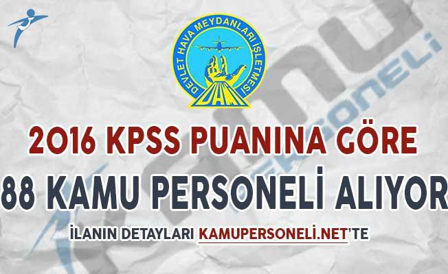 DHMİ KPSS 2018/1 İle 88 Kamu Personeli Alımı Yapıyor