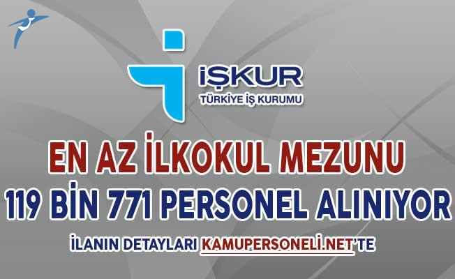 İŞKUR Kapsamında 119 Bin 771 Personel Alımı Yapılıyor