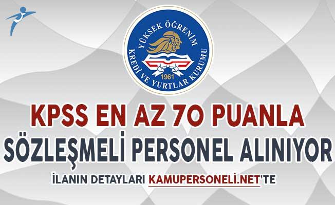 KYK KPSS En Az 70 Puan İle Sözleşmeli Personel Alımı Yapıyor