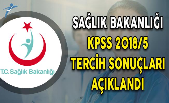 Sağlık Bakanlığı KPSS 2018/5 İle 18 Bin Personel Alımı Tercih Sonuçları ÖSYM Tarafından Açıklandı