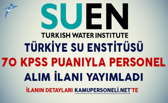 Türkiye Su Enstitüsü Personel Alım İlanı