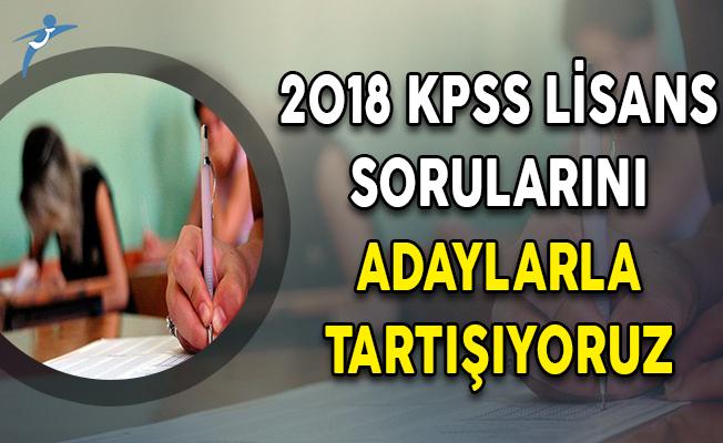 2018 KPSS Lisans Sorularını Adaylarla Tartışıyoruz