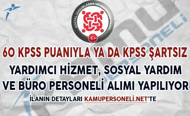 60 KPSS Puanıyla SYDV'ler Yardımcı Hizmet, Sosyal Yardım ve Büro Personeli Alımı Yapıyorlar