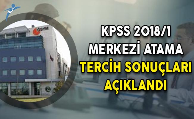 KPSS 2018/1 Merkezi Atama Tercih Sonuçları ÖSYM Tarafından Açıklandı!