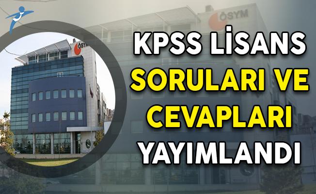 KPSS 2018 Lisans Soruları ve Cevapları ÖSYM Tarafından Yayımlandı