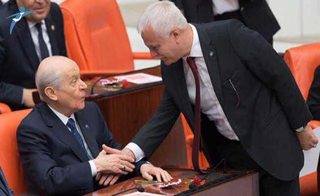 Mecliste Dikkat Çeken An ! MHP Lideri Bahçeli ve Koray Aydın...