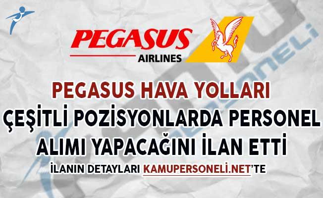 Pegasus Hava Yolları Çeşitli Pozisyonlarda Personel Alımı Yapacağını Duyurdu