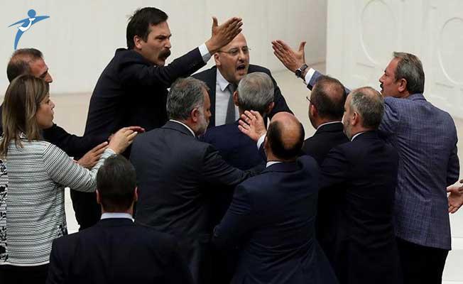 TBMM Genel Kurulunda HDP ve AK Parti Milletvekilleri Arasında Gerginlik