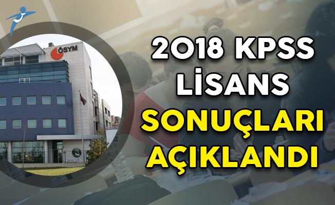 2018 KPSS Lisans Sonuçları ÖSYM Tarafından Açıklandı!
