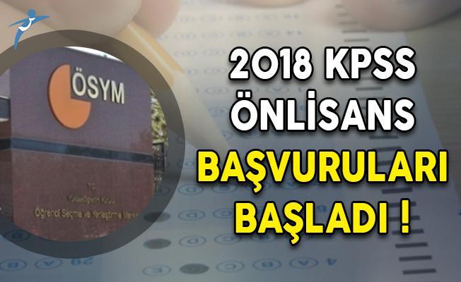 2018 KPSS Önlisans Başvuruları Başladı!