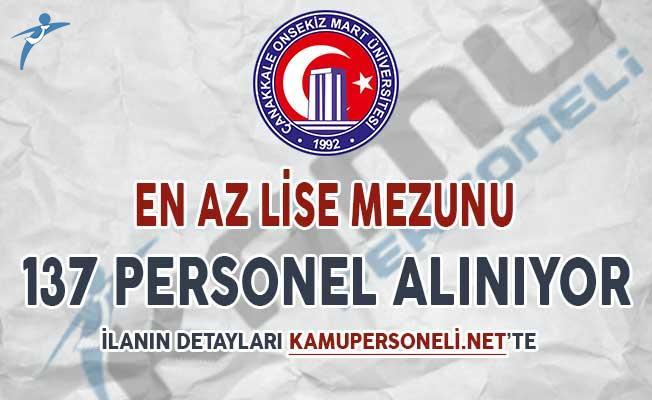 Çanakkale 18 Mart Üniversitesi 137 Sözleşmeli Personel Alımı Yapıyor