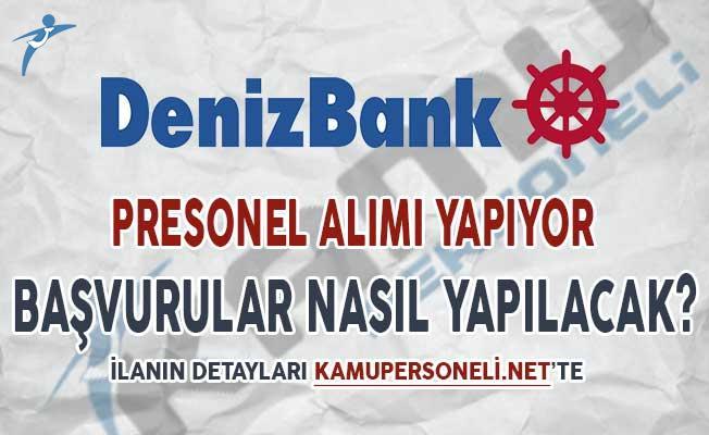 Denizbank Banka Personeli Alım İlanı 2018