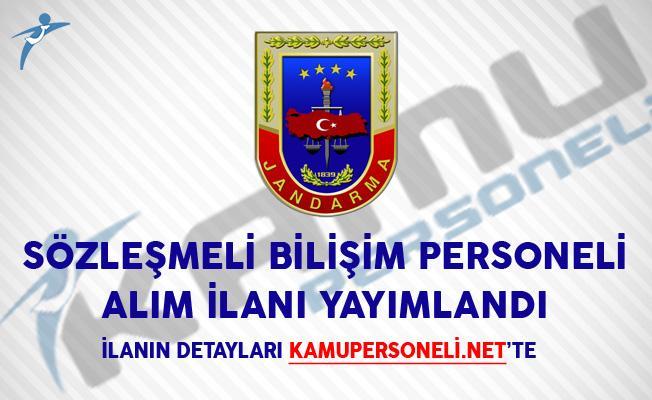 Jandarma Genel Komutanlığı Sözleşmeli Bilişim Personeli Alım İlanı Yayımlandı!