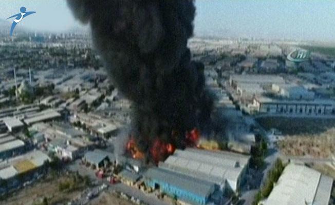 Konya'da Mobilya Fabrikasında Büyük Yangın