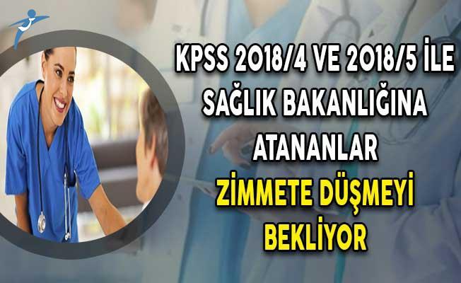 KPSS 2018/4 ve 2018/5 İle Sağlık Bakanlığına Atananlar Zimmete Düşmeyi Bekliyor