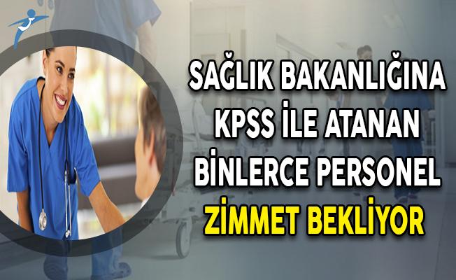 Sağlık Bakanlığına  KPSS İle Atanan Binlerce Personel Zimmet Bekliyor