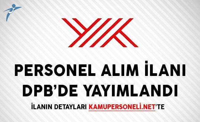 YÖK Sözleşmeli Personel Alım İlanı DPB'de Yayımlandı