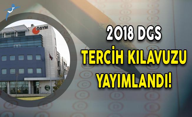 2018 DGS Tercih Kılavuzu Yayımlandı!