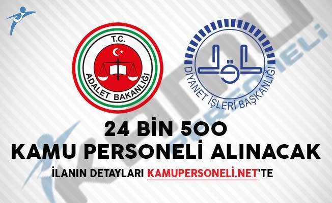 İki Kamu Kurumu (Diyanet, Adalet Bakanlığı) 24 Bin 500 Personel Alacak!